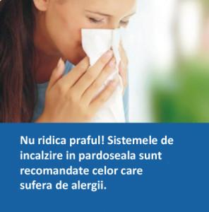 Incalzire in pardoseala recomandata celor cu alergii