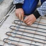 Instalare cabluri degivrare rampe auto