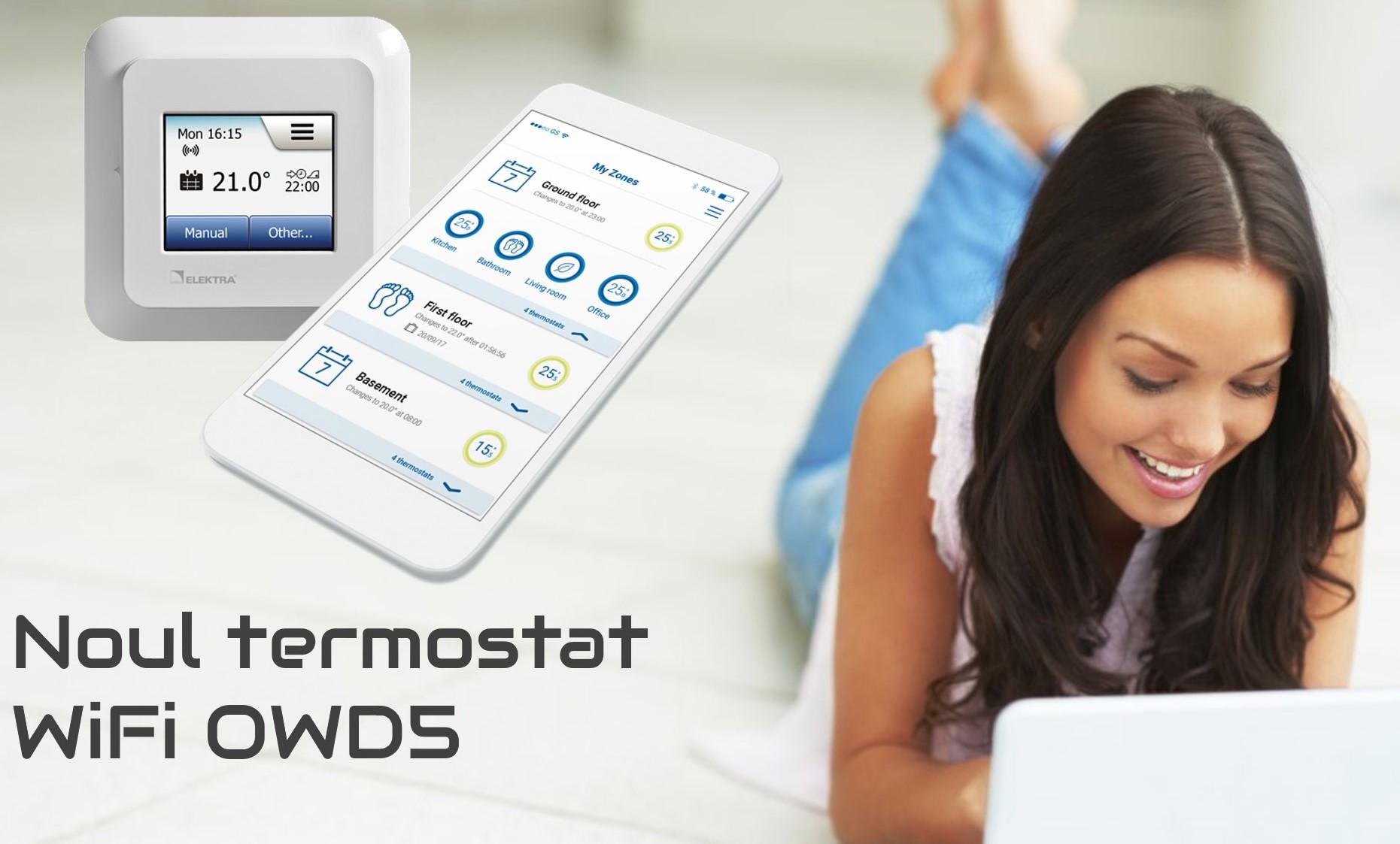 termostat controlat prin internet
